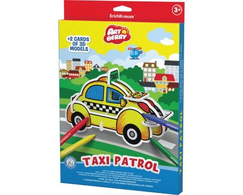 Игровой 3D пазл для раскрашивания Artberry/Taxi Patrol (6 флом+2 карты с фигур д/сборки), разноцветн.