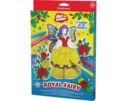 Игровой 3D пазл для раскрашивания Artberry/Royal Fairy (6 флом+2 карты с фигур д/сборки), разноцветн.