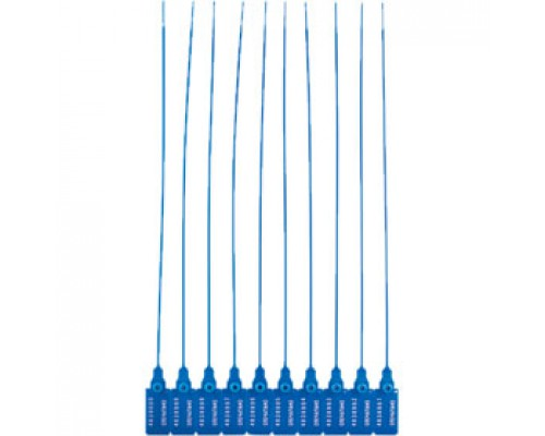 Пломба пластиковая номерная, 330мм, синий, 50шт.