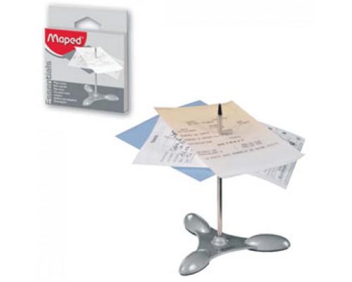Подставка MAPED для чеков, металлик
