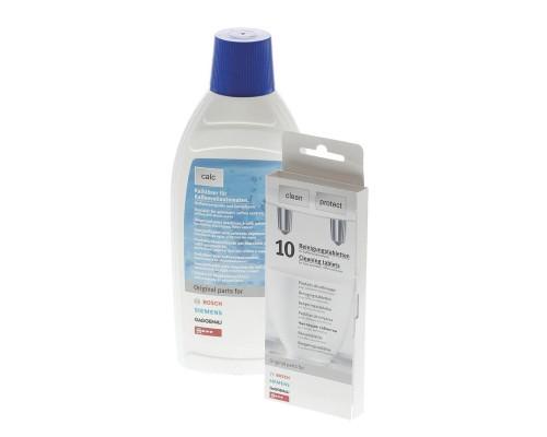 Набор средств для кофемашин Bosch 00311813 антинакипин,500 мл+табл. от жира