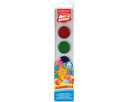 Краски акварельные Artberry 6 цветов
