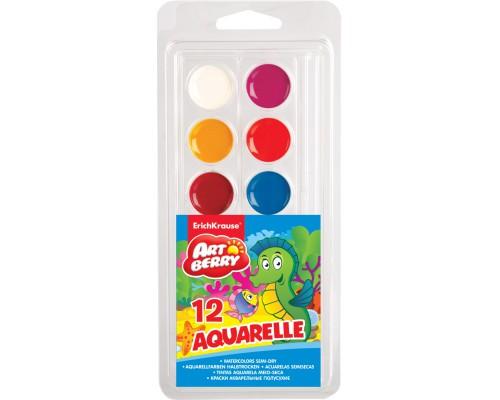 Краски акварельные Artberry 12 цветов, мягкий пластик