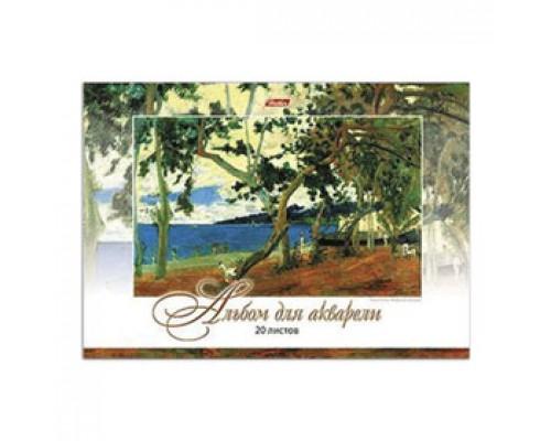 Альбом для рисования 20л. склейка, обл. картон, жесткая подложка, HATBER Импрессионисты