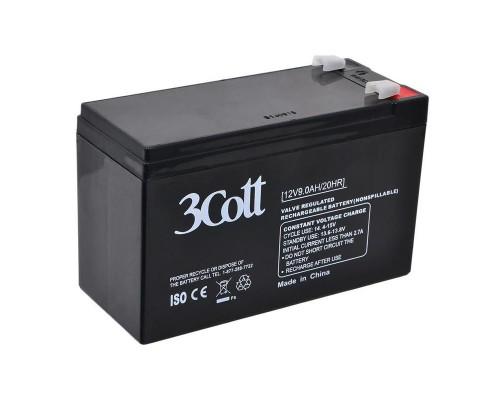 Батарея для ИБП 3Cott (12V/9Ah) аккумуляторная