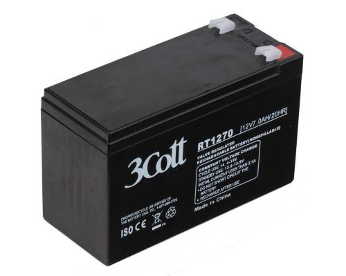 Батарея для ИБП 3Cott (12V/7Ah) аккумуляторная
