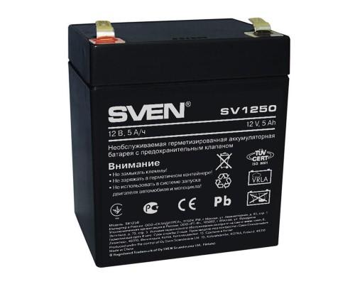 Батарея для ИБП SVEN SV 1250 (12V/5Ah) аккумуляторная