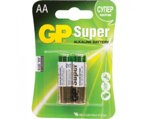 Батарейка AA/316/LR6 GP Super, алкалин., 2шт.