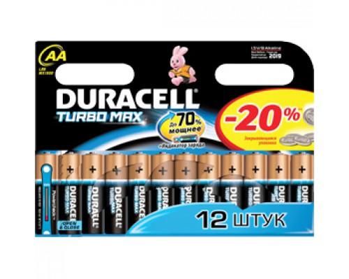 Батарейка AA/316/LR6 DURACELL Turbo Max, алкалин., 12шт.