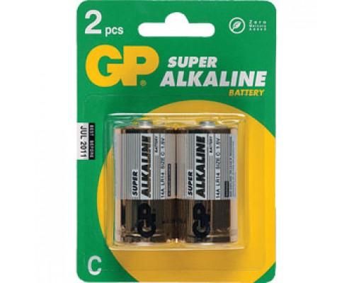 Батарейка C/LR14/14A GP Super, алкалин., 2шт.
