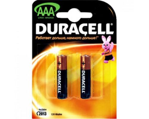Батарейка AAA/286/LR03 DURACELL, алкалин., 2шт.