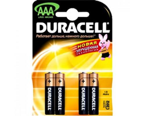 Батарейка AAA/286/LR03 DURACELL, алкалин., 4шт.