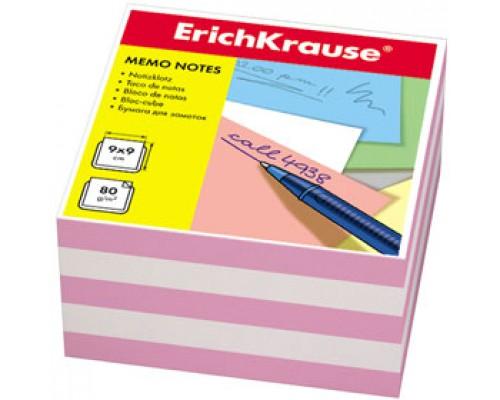 Блок для записей 90х90х45мм, ERICH KRAUSE, цветной