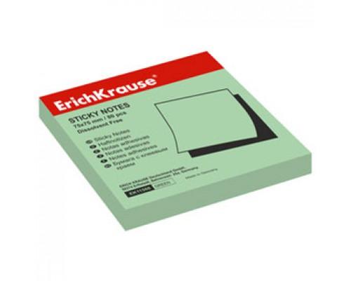Листки с клейкой полосой 75х75мм ERICH KRAUSE, 100л, зеленый