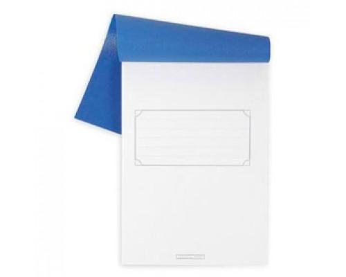 Блокнот А5 80л, клетка, пластик полимерный, скоба, HATBER синий