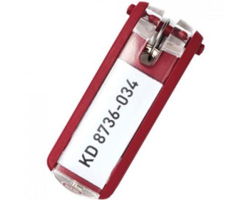 Брелок для ключей DURABLE, 6шт., красный