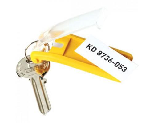 Брелок для ключей DURABLE, 6шт., желтый