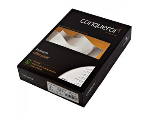 Бумага CONQUEROR Верже Brilliant white А4, 100г/м2, 500л., ярко-белый