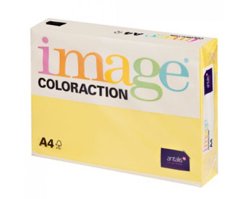 Бумага IMAGE Coloraction medium А4, 80г/м2, лимонно-желтый, 500л.