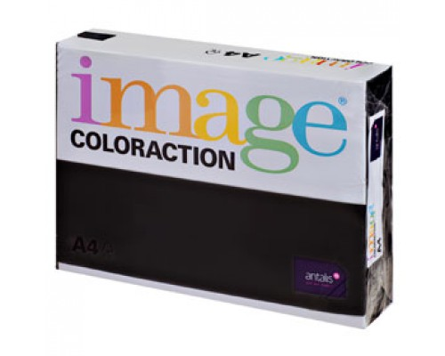 Бумага IMAGE Coloraction intensive А4, 80г/м2, черный, 500л.