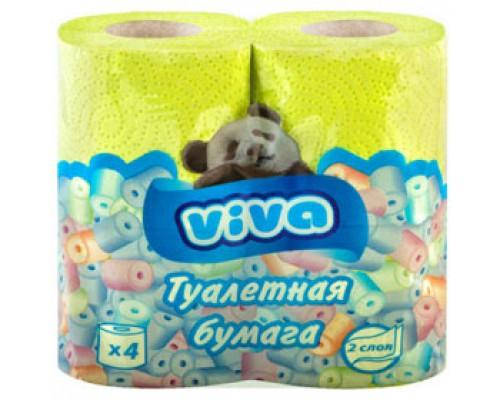 Туалетная бумага 2-сл. 4рул. VIVA Maxi, ассорти