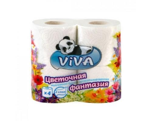 Туалетная бумага VIVA 2-сл. 4рул., белый