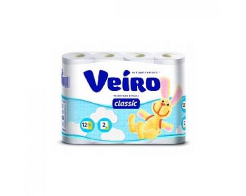 Туалетная бумага VEIRO Classic 2х-сл., 12 рул., белый