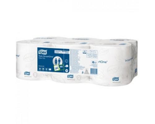 Туалетная бумага TORK Smart One 2-сл., 910л, 6рул., белый