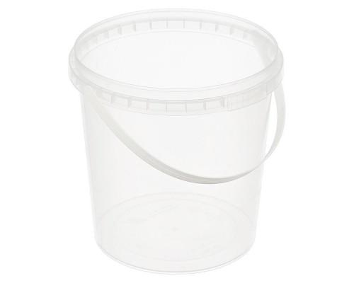 Ведро пластиковое прозрачное 1000 мл диаметр 122 мм высота 125 мм (400 штук в упаковке)