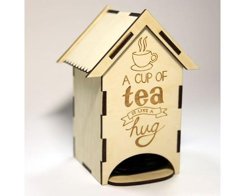 """Чайный домик средний """"Чашка чая"""" для декупажа"""