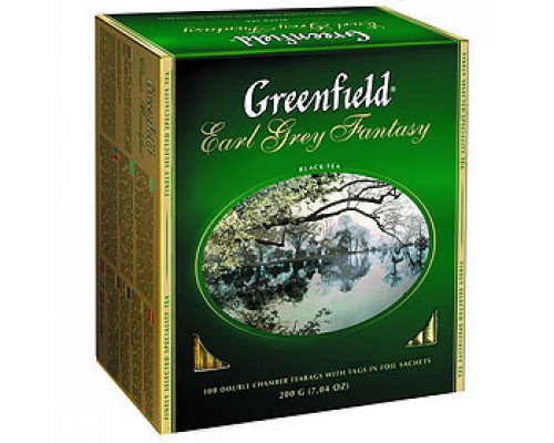 Чай GREENFIELD Earl Grey с бергамотом черный, 100пак.