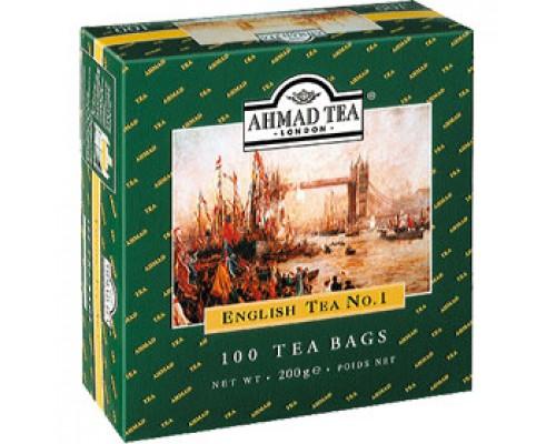 Чай AHMAD English N1 черный, ярлычок, 100пак.
