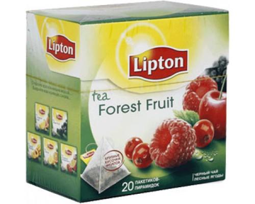 Чай LIPTON Forest Fruit фруктовый черный, пирамидки, 20пак.