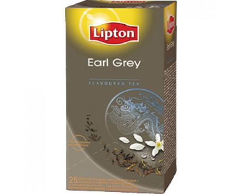 Чай LIPTON Earl Grey с бергамотом, фольга, черный, 25пак.