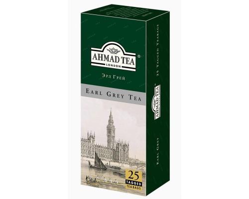 Чай Ahmad Earl Grey черный (2 упаковки по 25 пакетиков)