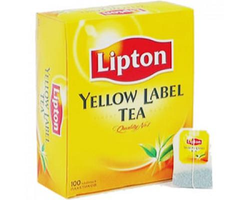 Чай LIPTON Yellow Label черный, ярлычок, 100пак.