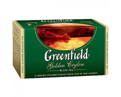 Чай GREENFIELD Golden Ceylon черный, 25пак.