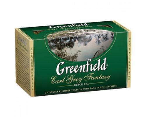 Чай GREENFIELD Earl Grey с бергамотом черный, 25пак.