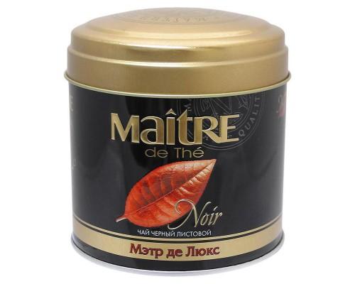 Чай Maitre Noir Де Люкс черный 100 г