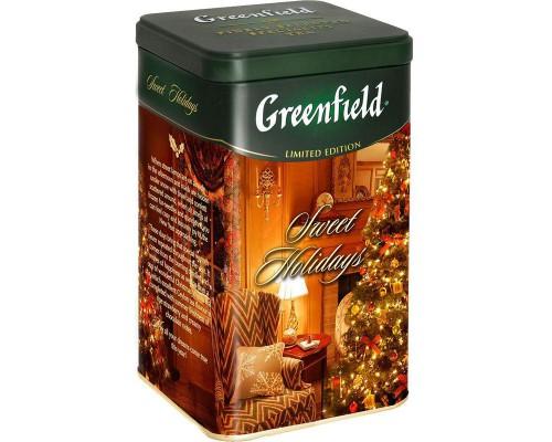 Чай Greenfield Sweet Holidays черный апельсин/ананас/манго 150 г