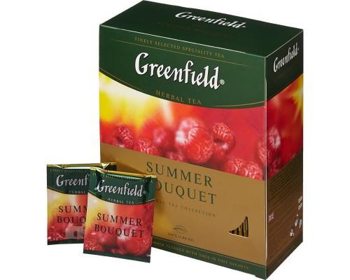 Чай Greenfield Summer Bouquet фруктово-ягодный 100 пакетиков