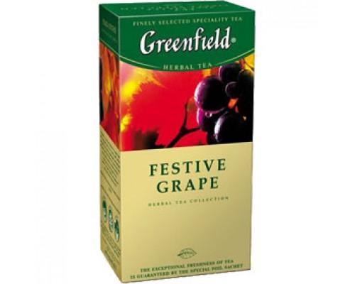 Чай GREENFIELD Festive Grape фруктовый, 25пак