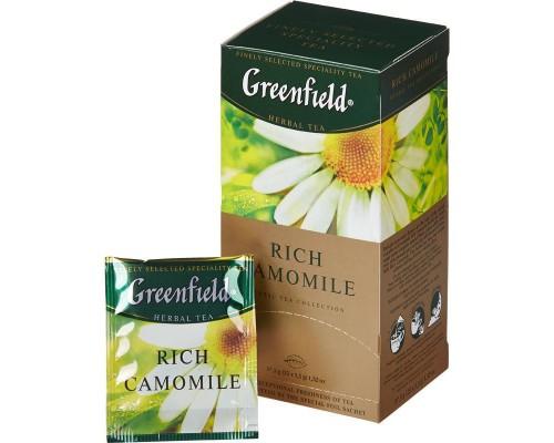 Чай Greenfield Rich Camomile зеленый с ромашкой 25 пакетиков