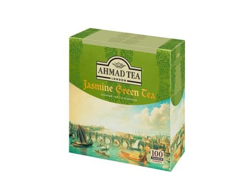 Чай Ahmad Green Jasmine Tea зеленый 100 пакетиков