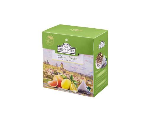 Чай Ahmad Tea Citrus Sorbet зеленый цитрусовый 20 пакетиков