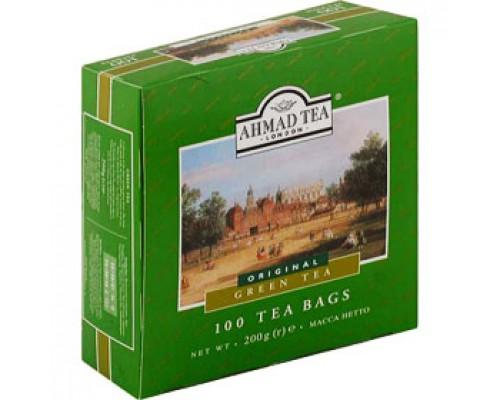 Чай AHMAD Green Tea зеленый, ярлычок, 100пак.