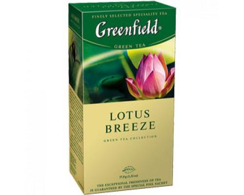 Чай GREENFIELD Lotus Breeze зеленый, 25пак.