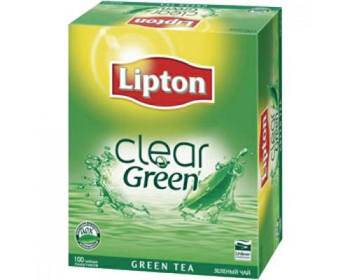 Чай LIPTON Green зеленый, ярлычок, 100пак