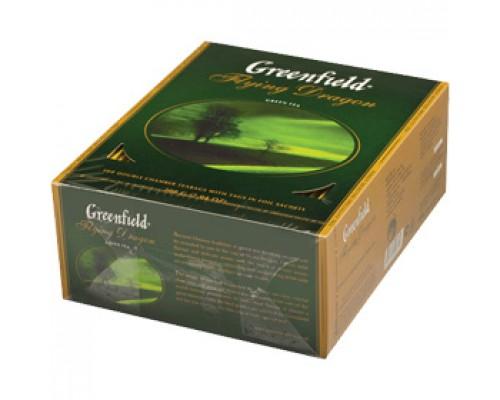 Чай GREENFIELD Flying Dragon зеленый, 100пак.
