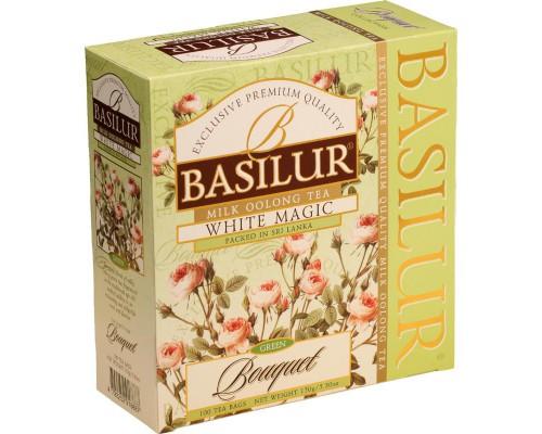 Чай Basilur boquet зеленый улун 100 пакетиков
